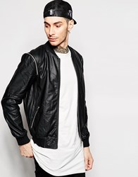 Eclipse Pu Bomber Jacket Black