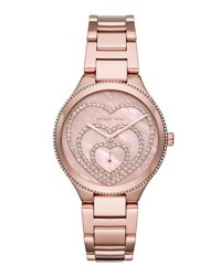 Michael Michael Kors 36Mm Lainey Round Glitz Bracelet Watch Pink