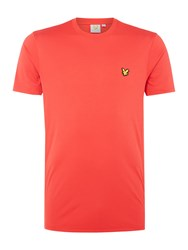 Lyle And Scott Men's Sports Two Tone Peters Crew Neck T Shirt Red