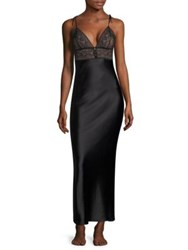 Stella Mccartney Ophelia Whistling Silk Blend Chemise Black