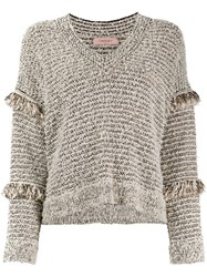 Twin Set Frayed Sleeves Detail Jumper 60