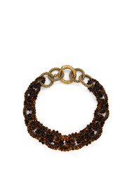 Rosantica By Michela Panero Carramato Short Beaded Necklace Brown