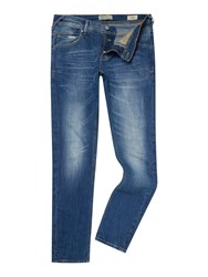 Blend Of America Medium Wash Low Rise Jeans Mid Blue