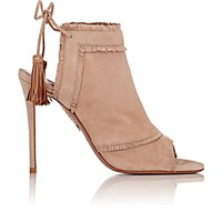 Aquazzura Women's Colorado Back Tie Ankle Boots Tan