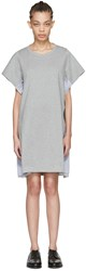 Harikae Grey Lace T Shirt Dress