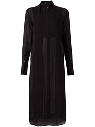 Ilaria Nistri Sheer Shirt Dress Black