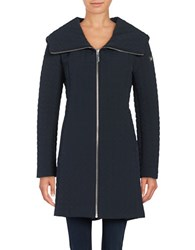 Dawn Levy Gwena Quilted Hooded Walker Coat Blue