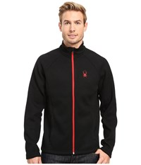 Spyder Constant Full Zip Mid Weight Core Sweater Black Red Men's Sweater