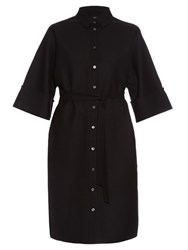 Joseph Bryce Double Faced Wool Blend Dress Black