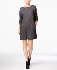 Eileen Fisher Boat Neck Shift Dress Charcoal
