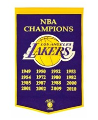 Winning Streak Los Angeles Lakers Dynasty Banner Team Color