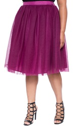 Eloquii Tulle Midi Skirt Plus Size Wine