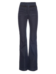 Rachel Comey High Rise Flared Denim Jeans