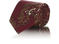 Fairfax Abstract Paisley Silk Faille Necktie Red