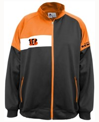 Majestic Men's Cincinnati Bengals Court Track Jacket Black Orange White