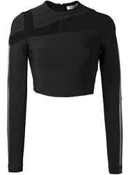 Thierry Mugler Mugler Cut Out Mesh Top Black
