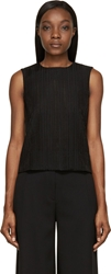 Studio Nicholson Black Sheer Jacquard Okubu Sleeveless Top
