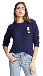 Michaela Buerger I Love Paris Perfume Bottle Sweater Navy Multi