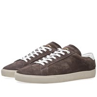 Saint Laurent 06 Suede Sneaker Brown