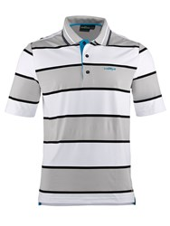 Chervo Andreino Stripe Regular Fit Polo Shirt Grey