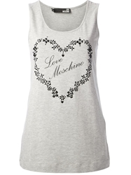 Love Moschino Embellished Heart Tank Top