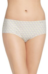 Calvin Klein Women's 'Invisibles' Print Hipster Briefs Streaked Floral