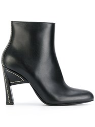 Marni Almond Toe Structural Boots Women Leather 39 Black