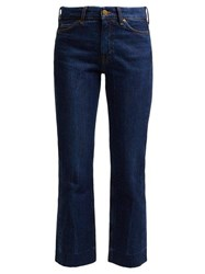 M.I.H Jeans Daily Crop High Rise Straight Leg Jeans Dark Blue