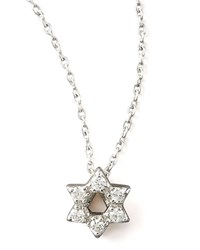 Diamond Star Of David Necklace Roberto Coin White