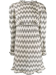 Missoni Zigzag Day Dress Neutrals