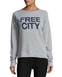 Freecity Str8up Raglan Sweatshirt Gray Blue Gray Blue