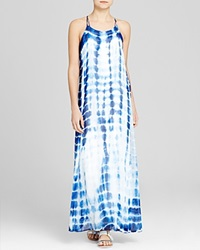 Red Haute Tie Dye Maxi Dress Cobalt