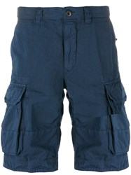 Incotex Cargo Shorts Men Cotton 30 Blue
