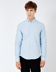 Only And Sons Sebastian Denim Oxford Shirt Blue