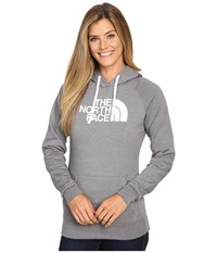 The North Face Half Dome Hoodie Tnf Medium Grey Heather Tnf White 1 Women's Sweatshirt Gray