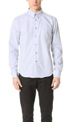 Naked And Famous Botanical Dye Oxford Shirt Blueberry