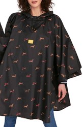 Joules Right As Rain Print Packable Hooded Poncho