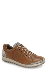 Men's Ecco 'Biom Hybrid 2' Golf Shoe Camel Oyster Leather