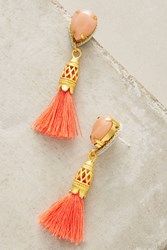 Anthropologie Petite Lisboa Teardop Earrings Peach