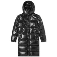 Moncler Hanoverian Long Hooded Down Jacket Black