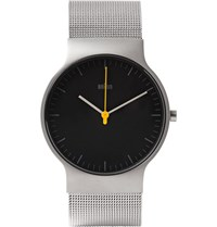 Braun Bn0211 Classic Slim Stainless Steel Mesh Watch Silver