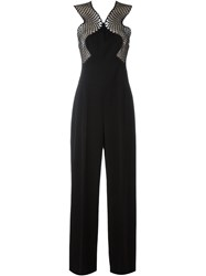 Stella Mccartney Mesh Detail Jumpsuit Black