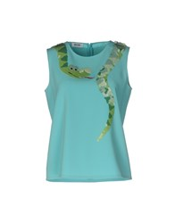 Moschino Cheap And Chic Tops Turquoise