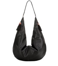 The Row Sling 15 Leather Shoulder Bag Black