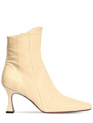 Manu Atelier 80Mm Xx Duck Leather Ankle Boots Vanilla