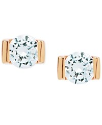 Lonna And Lilly Gold Tone Crystal Stud Earrings Rose Gold