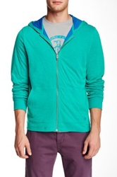 Original Penguin Duofold Long Sleeve Hoodie Green