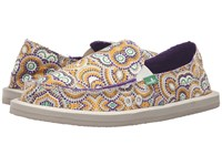 Sanuk Donna Purple Multi Radio Love Women's Slip On Shoes Beige