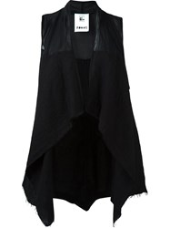 Lost And Found Rooms Asymmetric Hem Waistcoat Black