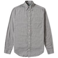 Gitman Brothers Vintage Mini Herringbone Shirt Grey